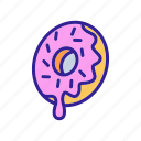 breakfast, caramel, donut, flakes, icing, jam, sweet icon