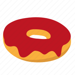 donut, jam, snack, strawberry icon