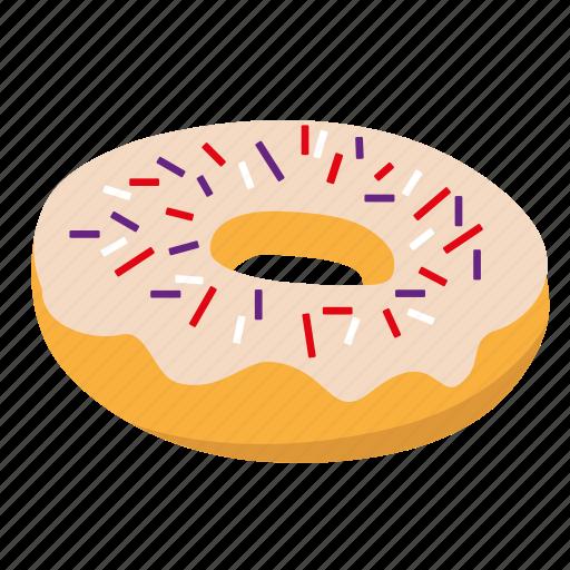 donut, snack, sprinkle, sugar, sweet icon