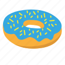 donut, snack, sprinkle, sugar, sweet icon