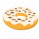 choco chips, donut, snack, sprinkle, sweet icon