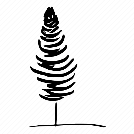 christmas, doodle, fir, forest, hand drawn, nature, tree icon