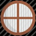 church, circle, furniture, glass, interior, round, window