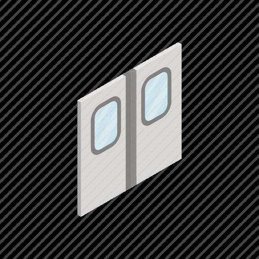 design, door, element, isolated, isometric, subway, train icon