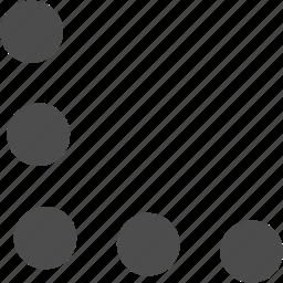 arrow, corner, down, left, pointer icon