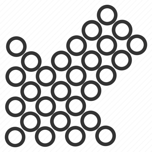 circle dots, cursor, direction, down left, export, pointer, pointing arrow icon