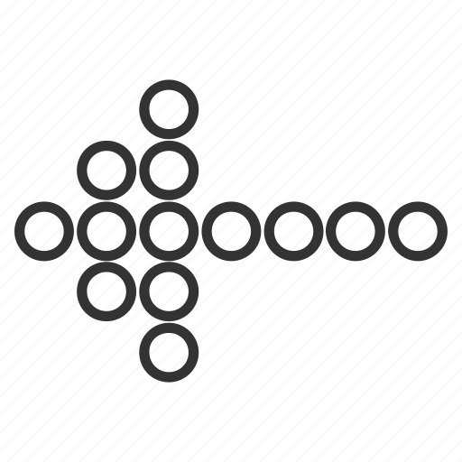 back, circle dots, cursor, history, left, pointing arrow, send icon