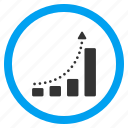 arrow, chart, graph, growth trend, positive, statistics, success icon