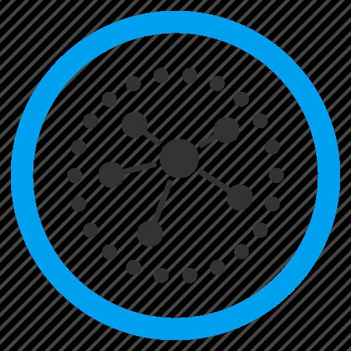analytics, chart, data, diagram, graph, infographic, links icon