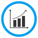 business, chart, grow, growth, positive trend, sales, success icon