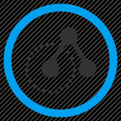 analysis, analytics, links structure, molecular, nodes, organization, statistics icon