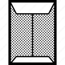 a4, communication, envelope, format icon