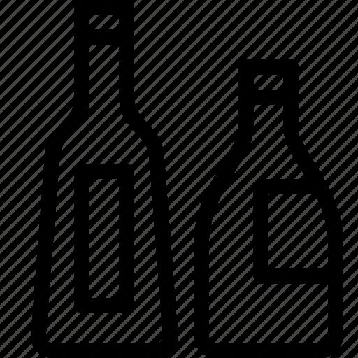 alcohol, bottles, drink, liquor, wine icon