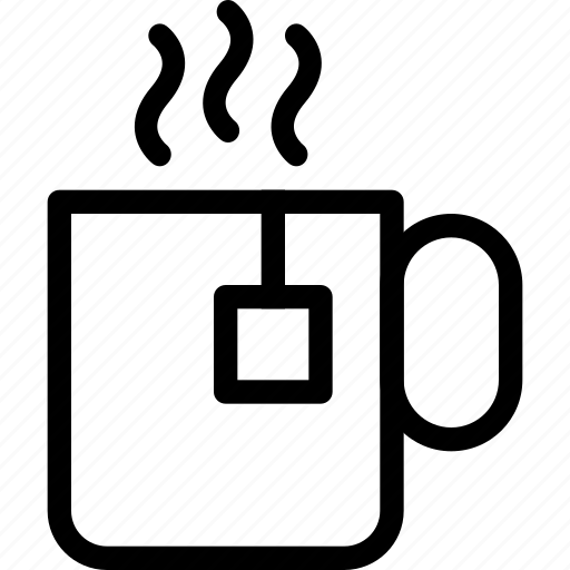 coffee, cup, drink, mug, tea, teabag icon