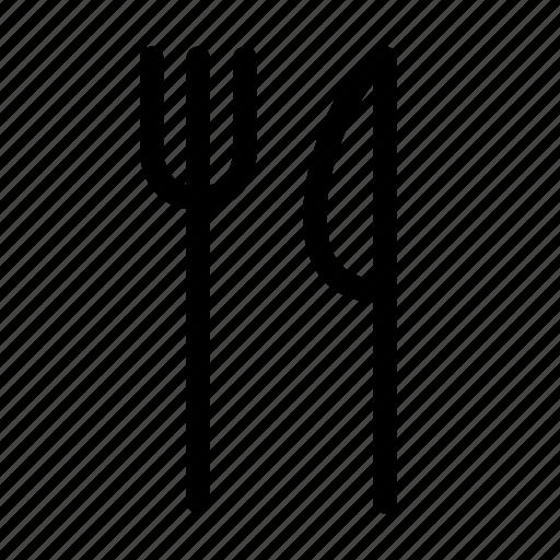 eat, fork, kitchen, kitchenware, knife, restaurant, utensil icon