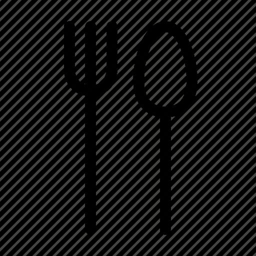 eat, fork, kitchen, kitchenware, restaurant, spoon, utensil icon