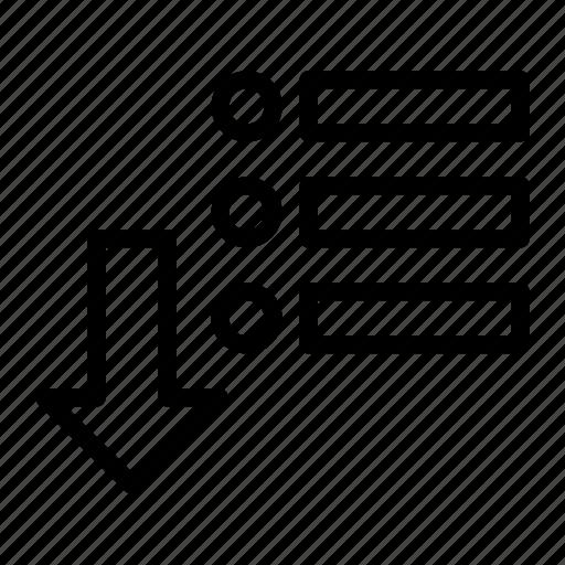 detail, download, list, menu icon