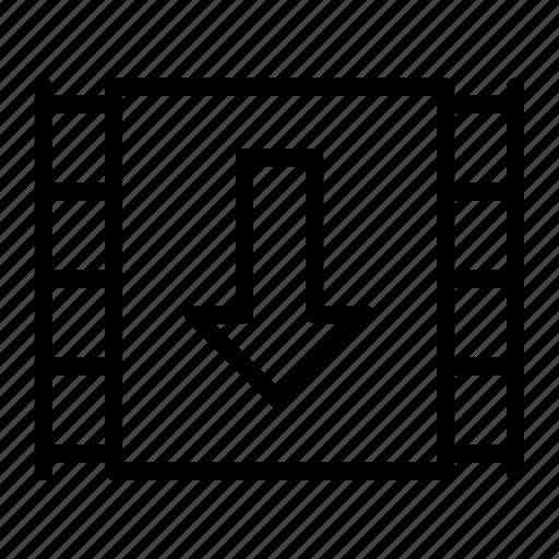 download, mp4, video icon