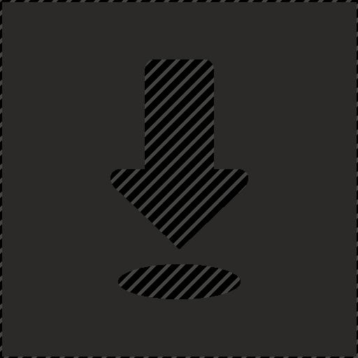 arrow, bottom, down, download icon