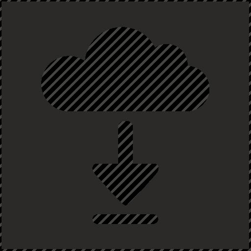 download, file, form, square icon