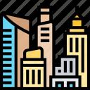 architecture, city, skyscraper, modern, metropolis