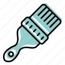 art, brush, drawing, equipment, painting, tool icon