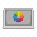 color, computer, laptop, screen icon
