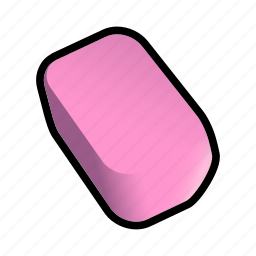 clean, clear, drawing, erase, eraser icon