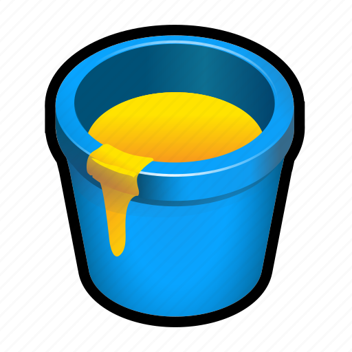 artist, bucket, drawing, paint icon