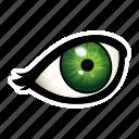 eyes, eye, make, makeup, liner, dress icon