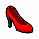 dress, feminine, heel, high, shoe icon