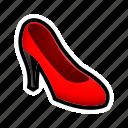 high, feminine, dress, shoe, heel icon