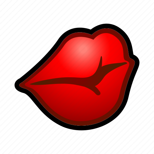 dress, face, kiss, lip, make, mouth, stick icon
