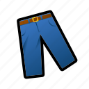 belt, dress, man, pants icon