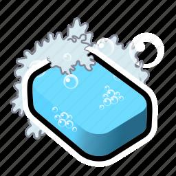 bubble, clean, clear, erase, shower, soap, wash icon