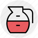 glass jar, jar, jug, jug of milk, milk jug, pot icon