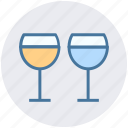 beverage, champagne glasses, champagne toast, cheers, drink icon
