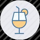 ale, ale soda, ale with orange slice, drink, wheat ale icon