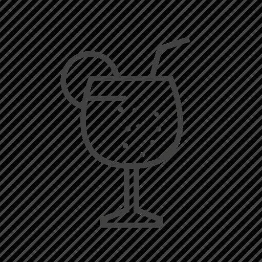 cocktail, glass, lemon, mocktail icon
