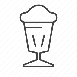 chocolate, cream, cup, drink, ice icon