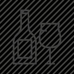 bottle, drink, glass, sanpien, soda icon