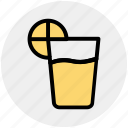 drink, glass, juice, lemon, lemon juice, shots icon