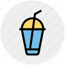cup with straw, disposable cup, drink, soda drink, soft drink soda icon