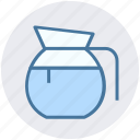 glass jar, jar, jug, milk, milk jug, pot icon