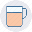 coffee, hot drink, mug and tea bag, tea, tea mug icon