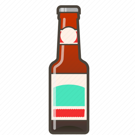 alcohol, ale, amber, beer, bottle icon