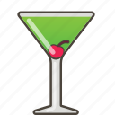 appletini, booze, cocktail icon