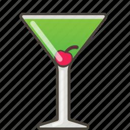 appletini, booze, cocktail icon