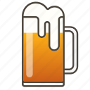 beer, beer glass, booze icon