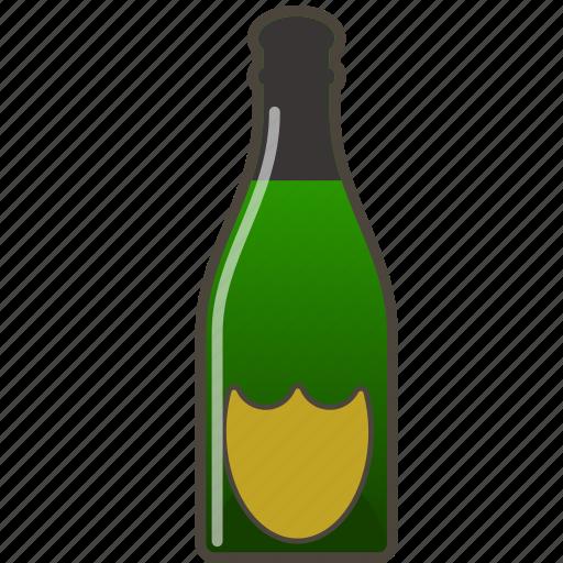alcohol, booze, bottle, champagne icon
